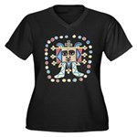 Ethiopian Women's Plus Size V-Neck Dark T-Shirt