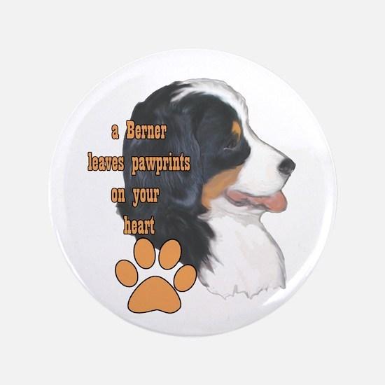"Berner pawprints 3.5"" Button"