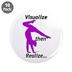 "Gymnastics 3.5"" Buttons (10) - Visualize"