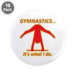"""Gymnastics 3.5"""" Buttons (10) - Do"""