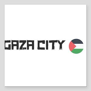"Gaza City Square Car Magnet 3"" x 3"""