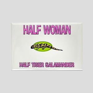 Half Woman Half Tiger Salamander Rectangle Magnet