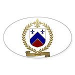 SOUCY Family Crest Oval Sticker