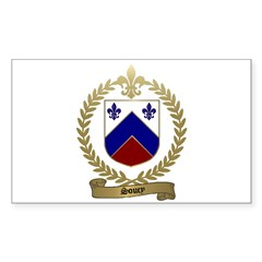 SOUCY Family Crest Rectangle Decal