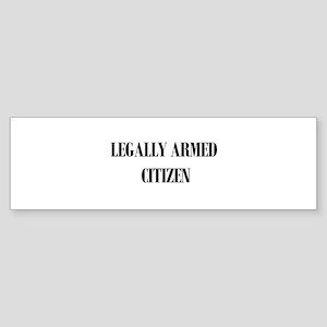 Legally Armed Bumper Sticker