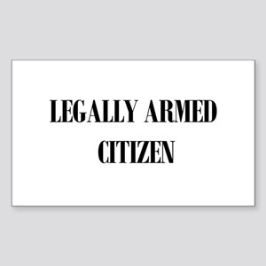Legally Armed Rectangle Sticker