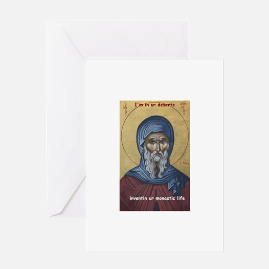 St. anthony the great Greeting Cards