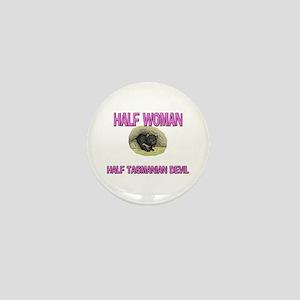 Half Woman Half Tasmanian Devil Mini Button