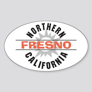 Fresno California Oval Sticker