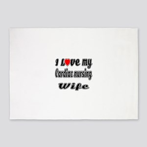 I Love My Cardiac nursing Wife 5'x7'Area Rug