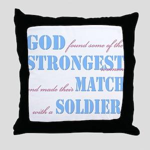 Strongest Women Throw Pillow