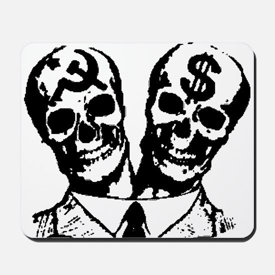 Communist & Capitalist Skulls Mousepad