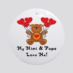 Mimi & Pops Love Me Ornament (Round)