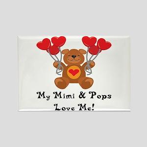 Mimi & Pops Love Me Rectangle Magnet