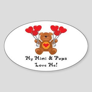 Mimi & Pops Love Me Oval Sticker