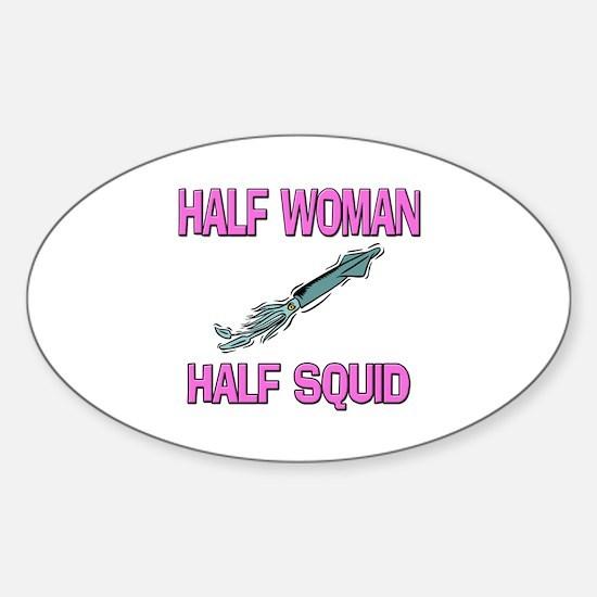 Half Woman Half Squid Oval Decal