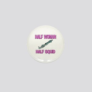 Half Woman Half Squid Mini Button