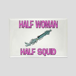 Half Woman Half Squid Rectangle Magnet