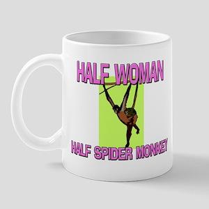 Half Woman Half Spider Monkey Mug