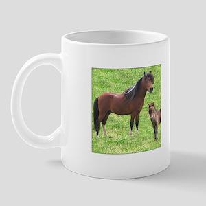 Mini Pinto Stallion & Daughter Mug