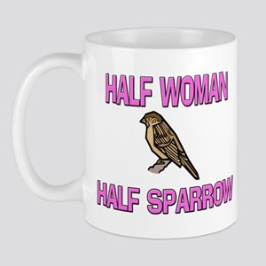Half Woman Half Sparrow Mug