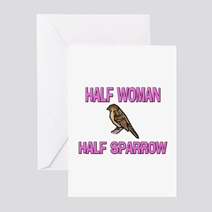 Half Woman Half Sparrow Greeting Cards (Pk of 10)