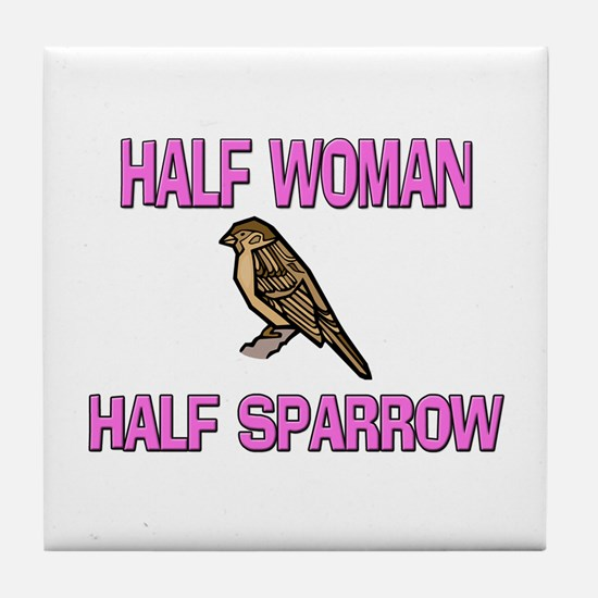 Half Woman Half Sparrow Tile Coaster