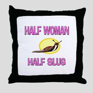 Half Woman Half Slug Throw Pillow