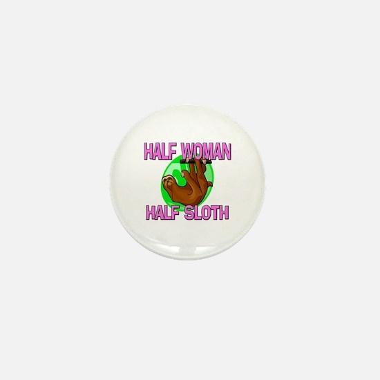 Half Woman Half Sloth Mini Button