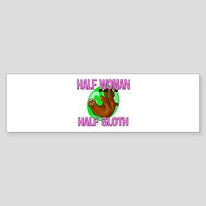 Half Woman Half Sloth Bumper Sticker