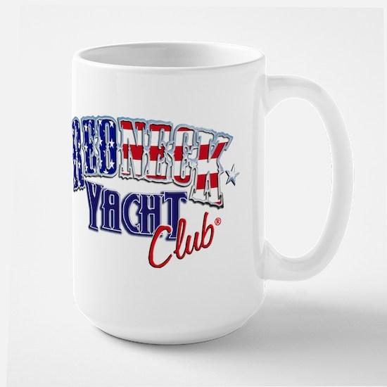 Redneck White & Blue Large Mug