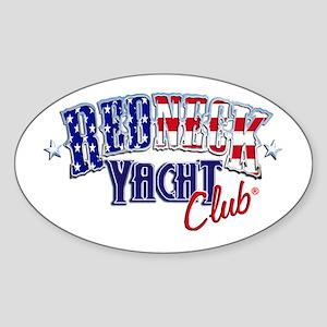 Redneck White & Blue Oval Sticker