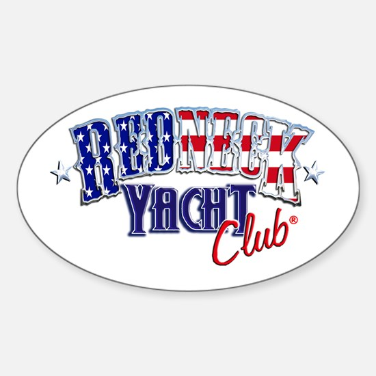 Redneck White & Blue Oval Decal