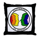 """Different Is Normal"" Throw Pillow 6"