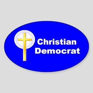 Christian Democrat Oval Sticker