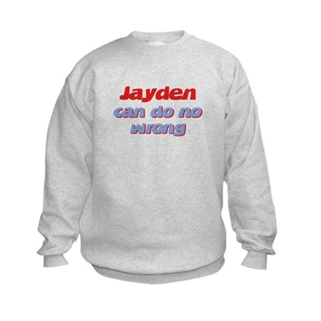 Jayden Can Do No Wrong Kids Sweatshirt