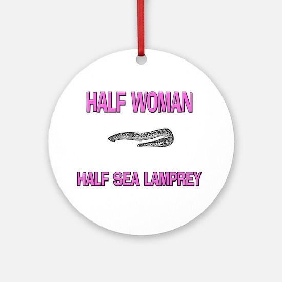 Half Woman Half Sea Lamprey Ornament (Round)