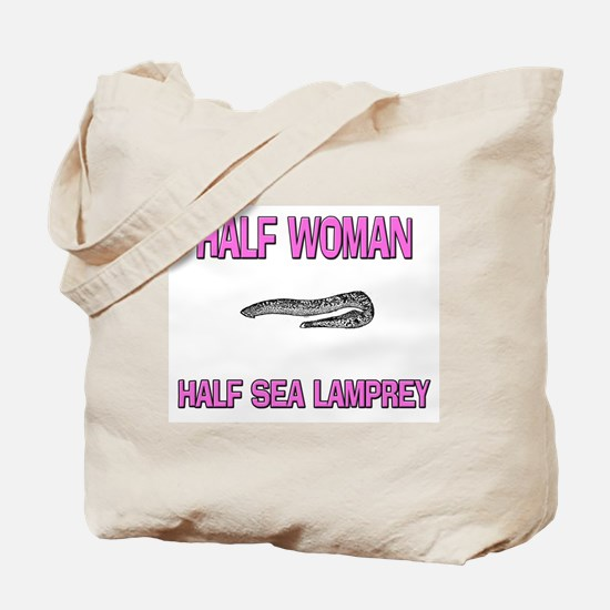 Half Woman Half Sea Lamprey Tote Bag