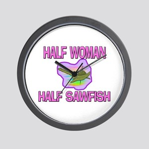 Half Woman Half Sawfish Wall Clock