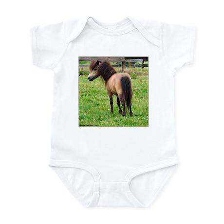 Miniature Horse Buckin Velvet Infant Creeper