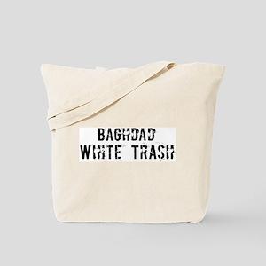 Baghdad White Trash Tote Bag