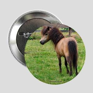 Miniature Horse Buckin Velvet Button