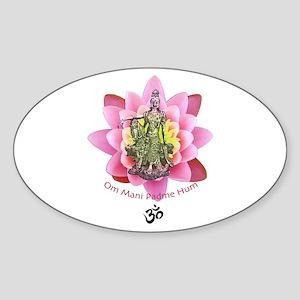 Kuan Yin Mantra Oval Sticker