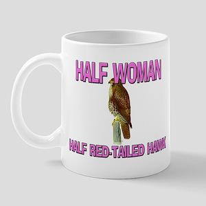 Half Woman Half Red-Tailed Hawk Mug