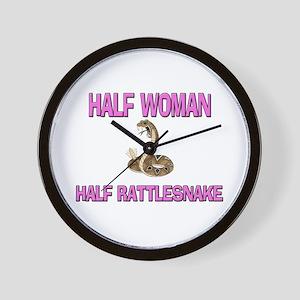 Half Woman Half Rattlesnake Wall Clock