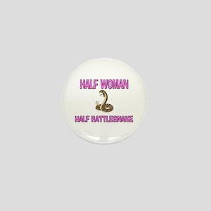 Half Woman Half Rattlesnake Mini Button
