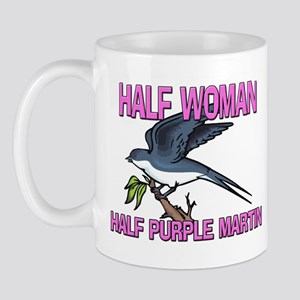 Half Woman Half Purple Martin Mug