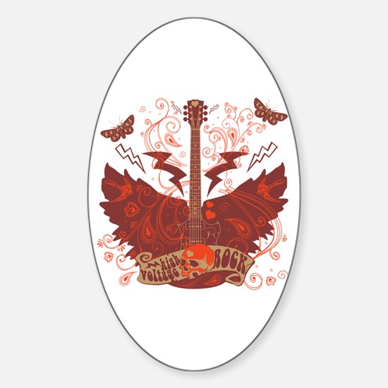Electric Rock Oval Decal