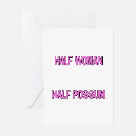 Half Woman Half Possum Greeting Cards (Pk of 10)