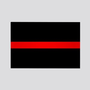 Thin Red Line Rectangle Magnet